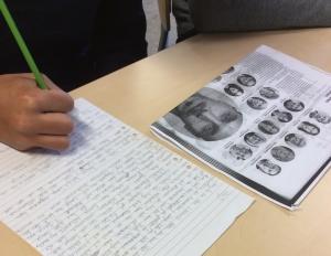 8E, Oxievångsskolan, skriver till Kerstin Ekman.